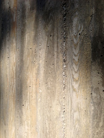 Wood grained concrete. Functional concrete doesn't need to be ugly or bland.