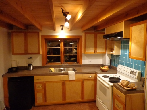 Kitchen with concrete counter-top