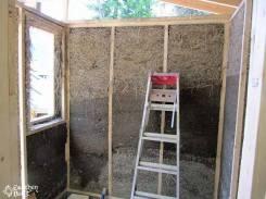 Light-clay infill walls for a sauna